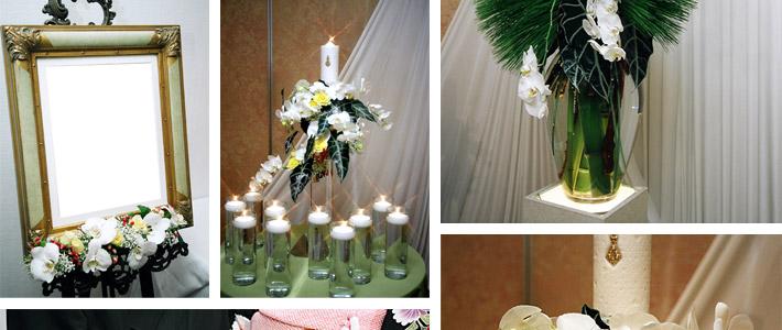 胡蝶蘭と青竹を使った品格あるウェディング02
