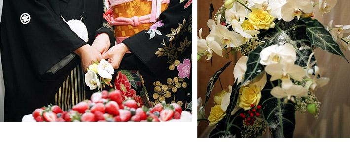 胡蝶蘭と青竹を使った品格あるウェディング03