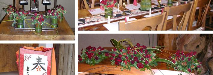 青竹と赤バラのウェディング02
