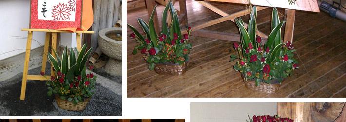 青竹と赤バラのウェディング03