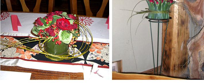 青竹と赤バラのウェディング04