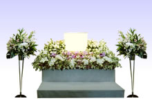 供花:横幅180cm(スタンドあり)
